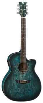 Exotica Quilt Ash A/E - Trans Blue Satin (DE-EQA-TBLS)