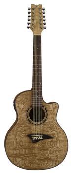 Exotica Quilt Ash A/E 12 String - GN (DE-EQA12-GN)