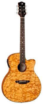 Gypsy Quilt Ash Gloss Natural w/Preamp (LU-GYP-E-QA-GN)