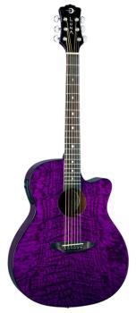 Gypsy Quilt Ash Trans Purple w/Preamp (LU-GYP-E-QA-TPP)
