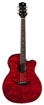 Gypsy Quilt Ash Trans Red w/Preamp (LU-GYP-E-QA-TRD)