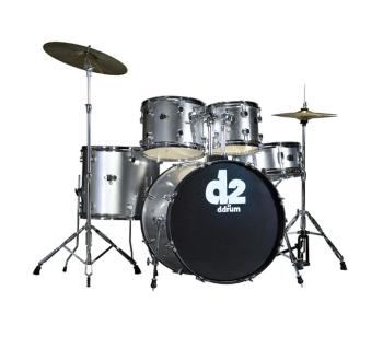 D2 Drum Set 5pc - Brushed Silver (DD-D2-BS)