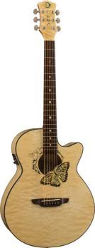 Fauna Butterfly Acou/Elec Guitar (LU-FAU-BTFLY)