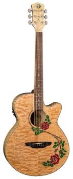 Flora Rose Acoustic/Electric Guitar (LU-FLO-RSE)