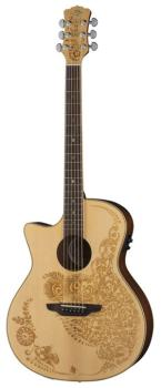 Henna Oasis Lefty Acou/Electric - Spruce (LU-HEN-O2-SPR-LEFTY)