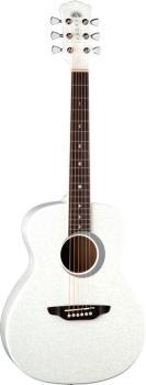 Aurora Borealis 3/4 Guitar White (LU-AR-BOR-WHT)