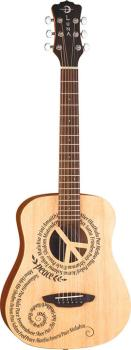 Safari Peace Travel Guitar w/ gigbag (LU-SAF-PCE)