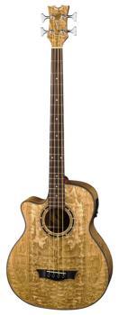 Exotica Quilt Ash A/E Bass - GN  Lefty (DE-EQABA-GN-L)